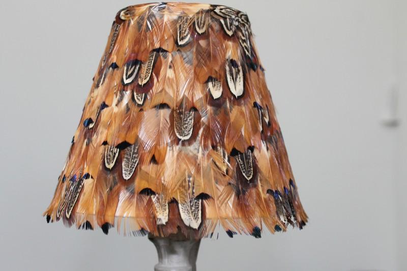 Pheasant feather lampshade bespoke sizes available feather lampshade male pheasant feather lampshade rust aloadofball Gallery