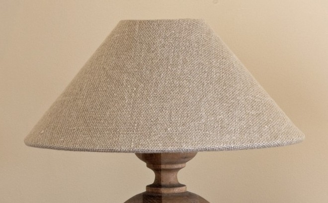 Lamp Shade In Thick Natural Linen By Cote Bastide