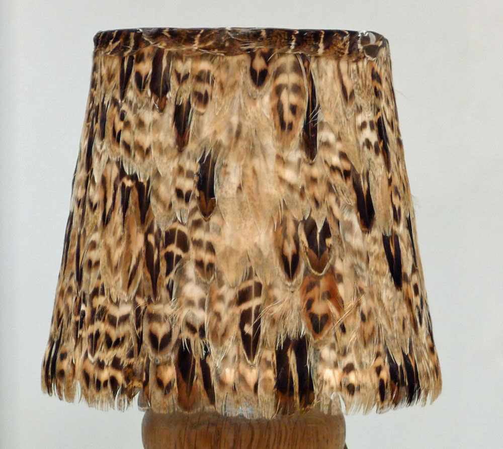 Pheasant Feather Lampshade Small Bespoke Sizes Available