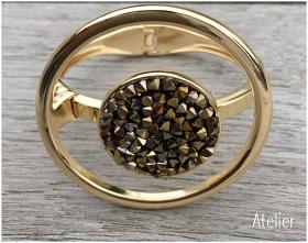 Gold Crystal Rocks Bracelet
