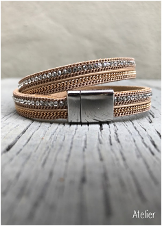 Double Wrap Sand Bracelet with Magnetic Catch