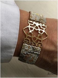 Medium Japanese Bead Star Bracelet - Gold