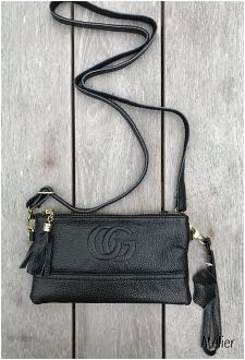 Small Soft Black Leather Handbag