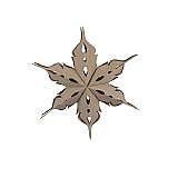 Large Wood Veneer Deco Star 40cm