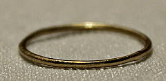 Plain Brushed Gold Band Ring (made by hand)