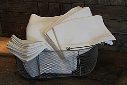 Cote Bastide Finest White 100% Honeycomb Cotton Towels