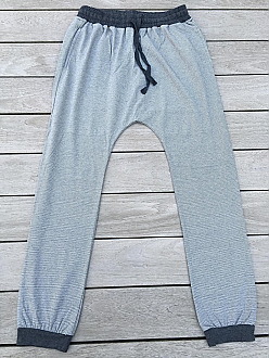 Comfy Luxe Yoga Pants in Grey Stripe Relaxed Fit