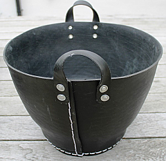 Medium Recycled Tyre Trug from Syria