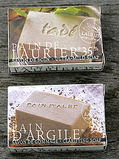 Laurel and Clay Guest Soaps from Aleppo, Syria