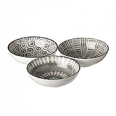 Broste Copenhagen Grey Modern Nibbles Bowls Set of 3
