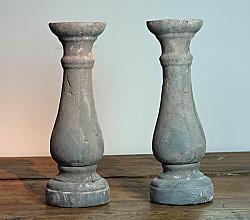Broste Copenhagen Grey Terracotta Candlesticks