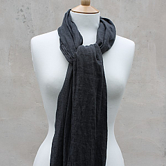 Linen Scarf in Charcoal Grey 100% Linen